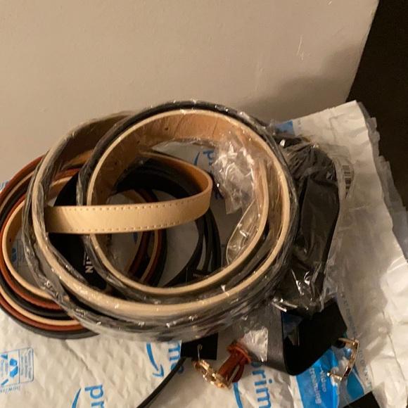 8 small belts black/tan/beige
